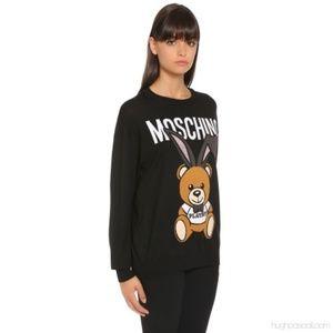 New Moshino Playboy bear sweater tunic top S black